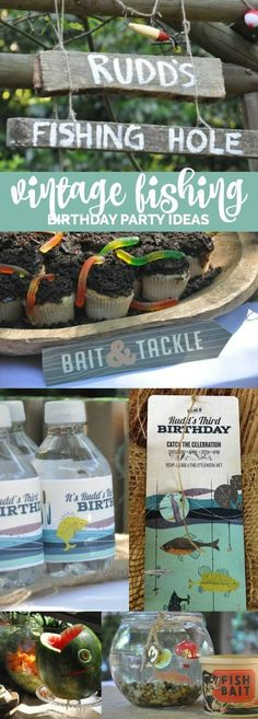 A Boy's Vintage Fishing Themed Birthday Party