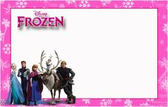 """Kit de Aniversário """"Frozen-Disney"""" Pink para Imprimir - Convites Digitais Simples"""