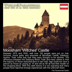 Moosham 'Witches' Castle - Salzburg, Austria - 'World of the Paranormal'… Most Haunted Places, Scary Places, Creepy Things, Creepy Stuff, Creepy Facts, Creepy Stories, Ghost Stories, Places To Travel, Places To See