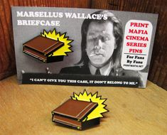 Marsellus Wallaces Briefcase - Pulp Fiction Enamel Pin by Print Mafia®  1 Black Nickel Enamel Pin with butterfly clutch pin.  Pin comes on