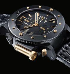 ❦ Black & Gold Luxury U-Boat