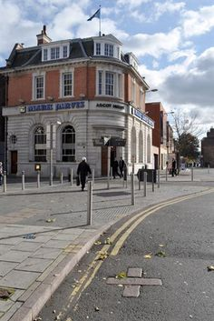The High Cross marker, Leicester, 2012. Still there (2015) if you look hard enough amongst the new brickwork on the road. The High Cross itself is a few yards away on Jubilee Square.