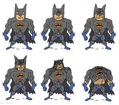 As rugas de preocupação do Batman: