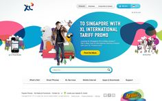 Web Portal for XL Axiata by Dewanza Mohammad, via Behance