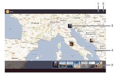 How To View Photos In Map - Xperia Tablet Z