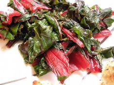 Left off red pepper flakes for kids. Sauteed Swiss Chard (Don t Be Afraid!) Incredibly yummy- slightly spicy with a bit of lemon zip. This is the MOST delicious swiss chard recipe EVER! -I promise. (Adapted from a recipe from Bon Appetit) Cooking Swiss Chard, Sauteed Swiss Chard, Swiss Chard Recipes, Rainbow Swiss Chard Recipe, Rainbow Chard Recipes, Vegetable Recipes, Vegetarian Recipes, Cooking Recipes, Healthy Recipes