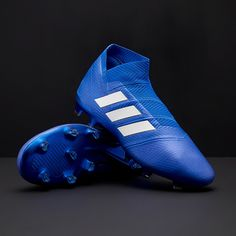 new products 8f4ef a4c50 chaussures de football homme - adidas Nemeziz 18+ FG - Bleu Football Blanc  - DB2071