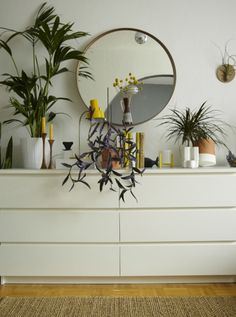 Combine lush plants of various shapes and sizes for an urban indoor jungle