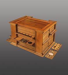 foto Mahagoni 30 Cm Vintage Designer Geschenk Luxus Jewelry Boxes Jewelry & Watches Brilliant Schmuckschatulle Spiegel