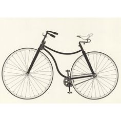 Check out this item at One Kings Lane! Starley 'Rover' Bicycle Lithograph, 1966