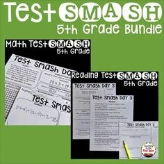 Test Prep Grade Math and Reading Bundle - This bundle contains the grade editions of the Test Smash test prep resource for both math and reading. Each of these resources can be purchased separately, but purchase together to save! Leadership Activities, Teaching Strategies, Group Activities, Numerical Expression, Elementary School Counseling, Elementary Schools, Small Group Reading, Reading Test, Fifth Grade Math