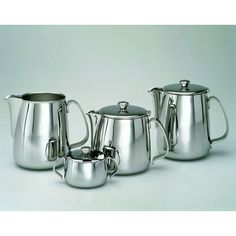 metal tea serving set | Alessi Ufficio Tecnico Alessi 4 Piece Coffee and Tea Server Set
