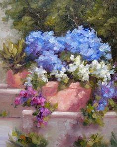 Garden Spot, original painting by artist Pat Fiorello   DailyPainters.com