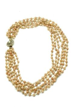 AMBAR STUDIO is a Romanian based womenswear label, born out of the love for design, craftmanship, quality and detail Pearl Necklace, Beaded Necklace, Earth Color, Jasper Stone, Necklace Designs, Florence, Brass, Contemporary, Pearls