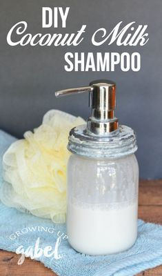 - DIY Coconut Milk Shampoo Recipe - DIY coconut milk shampoo recipe only needs 3 ingredients to make and will help keep your hair soft and clean without harsh chemicals. Diy Shampoo, Homemade Shampoo And Conditioner, How To Make Shampoo, Organic Shampoo, Shampoo Bar, Natural Shampoo Recipes, Coconut Milk Shampoo, Coconut Oil, Diy Hair Care