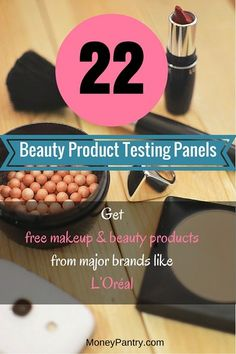 Become a beauty product tester and get free makeup and other beauty products