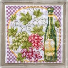 Cooking with Wine Trivet Counted Cross-Stitch Kit