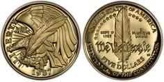 1987 US Constitution Bicentennial Coin - The United States Constitution was adopted in 1787, becoming the supreme law of the land.