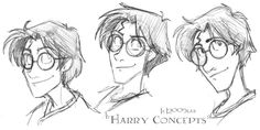 Harry Heads - HP by lberghol on DeviantArt