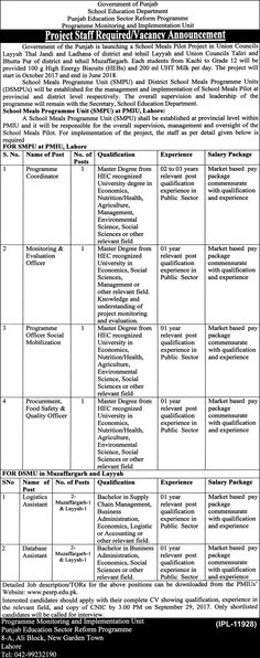 Punjab Public Service Commission PPSC Jobs 2018 In Lahore For - logistics officer job description