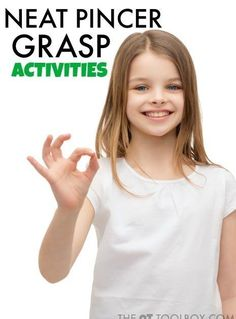 Neat pincer grasp activities for kids to develop dexterity and fine motor skills.