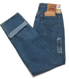 8081d8a4277 Vtg Levis 560 Jeans 8 Loose Fit Straight Leg High Waist 29W 32L Mom New  Defect