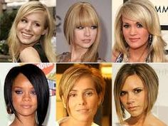 Resultado de imagem para cabelos curtos rosto oval 2015
