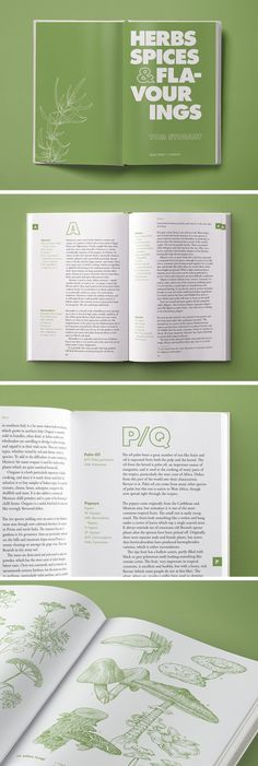 Herbs, Spices & Flavourings by Tom Stobart [Grub Street]. Book Design by Daniele Roa on Behance.