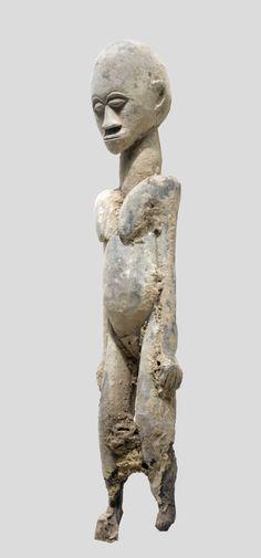 An eroded, fragmentary Lobi sculpture of unknown origin