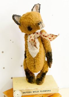 Mohair/Viscose Fox Sewing Pattern 9.5 inch PDF by noblefabric, $16.00