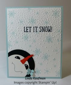 Another card I just had to CASE because I absolutely love snowmen! France Martin is the genius behind this super cute card. Thank you Fren...
