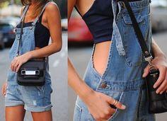 NEU Kurze Damen Latzhose Shorts Jeanslatzhose Jeans S 36 hellblau Träger Overall