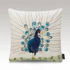 Peacock embroidered pillow cover Chinese style cushion covers