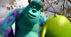 Sulley looking at Mike Disney Pixar, Mike And Sulley, Monster University, Pixar Movies, Monsters Inc, Wallpaper Desktop, Sully, 3d Animation, Madness