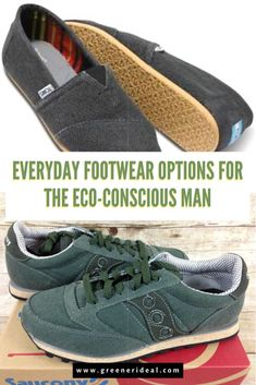 Though the eco-friendly footwear market seems to be overstocked with tacky, ugly footwear, there are a handful of affordable, attractive and sustainably made shoe options out there. You don't have to wear thatch sandals and get called a hippie just to find footwear that lines up with your ideals. Check them out! #Footwear #shoe #shoes #fashion #style #StyleForMen #green