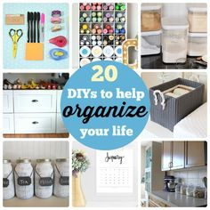 Great Ideas -- 20 DIY's to Help Organize Your Life!