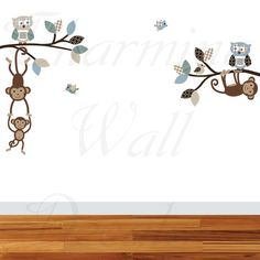 Monkey Wall Decals Monkey Decals Monkey by CharmingWallDecals