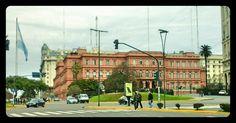 Casa Rosada + Bandera Celeste y Blanca - Bs.As  Argentina