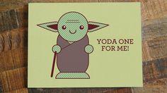 Carte Yoda Star wars
