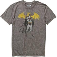 Batman Men's Burnout Graphic Tee, Size: XL, Black