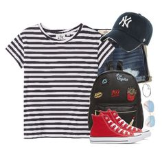 """Untitled #356"" by sofia-collins8 on Polyvore featuring Hollister Co., Cheap Monday, '47 Brand, Ollie & B, Converse, Cartier and Ray-Ban"