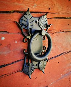 Hand forged steel door knocker unique one of a kind