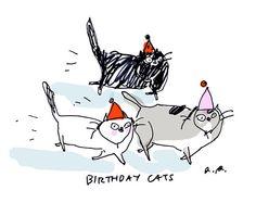 Birthday Cat Card by jamieshelman on Etsy, $4.95