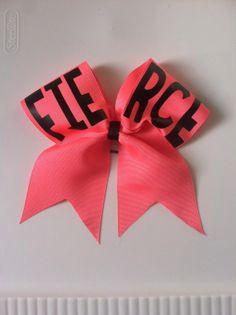 Cheer Bow Fierce by BOWEDallupEM on Etsy, $13.00