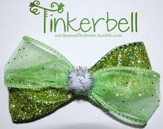 Tinkerbell Hair Bow                                                                                                                                                                                 Mais