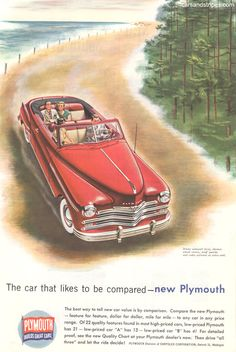 1949 Plymouth Special Deluxe Convertible - Just your style! - Original Ad
