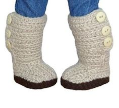 Mini Sweater Boots - PDF Crochet Pattern to fit American Girl Dolls   YouCanMakeThis.com