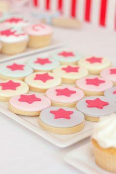 super hero-princess star cookies!