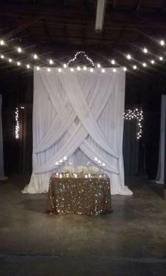 Image result for unique log and light wedding decor