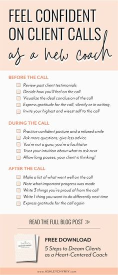 Client calls checklist for new or new-ish coach doubting her skills and ability to show up and serve her clients well. Also perfect if you're feeling hesitant to even promo your offers because you're worried you don't have what it takes to be a transformational coach. Let me help you ready to show up confidently for your next coaching call and facilitate deep change for your clients! Creative Business, Business Tips, Online Business, Sales Strategy, Success Mindset, Starting Your Own Business, In Writing, Online Marketing, Media Marketing